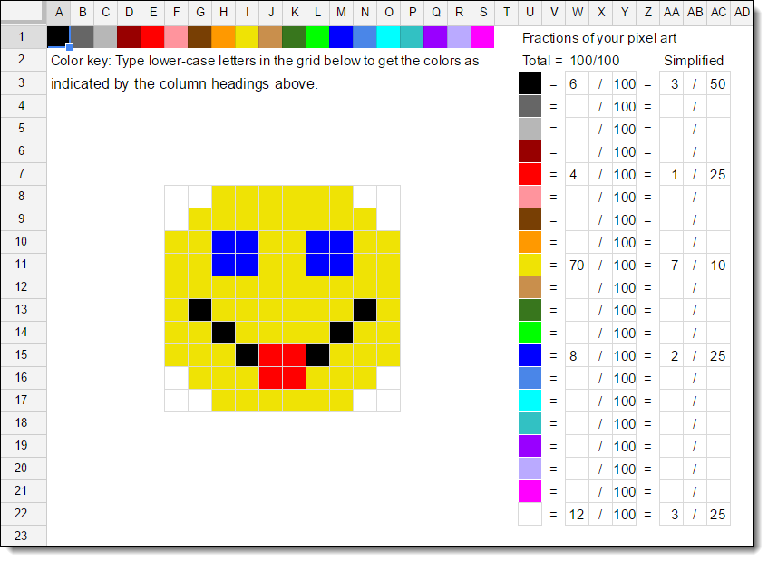 Use Google Sheets to create pixel art for creativity, tech skills ...