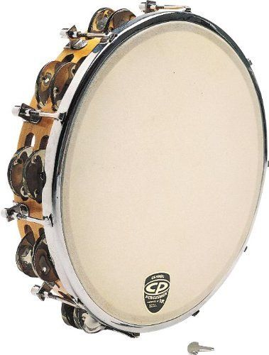 """Cp Cp391 Tunable Tambourine by CP. $32.99. The CP CP391 Tunable Tambourine features a solid wood shell with securely mounted jingles and rugged tuning lugs. Includes tuning wrench that allows the tambourine to be tuned to a multitude of pitches within seconds. 10"""" diameter. Double-row jingles. Plastic head."""