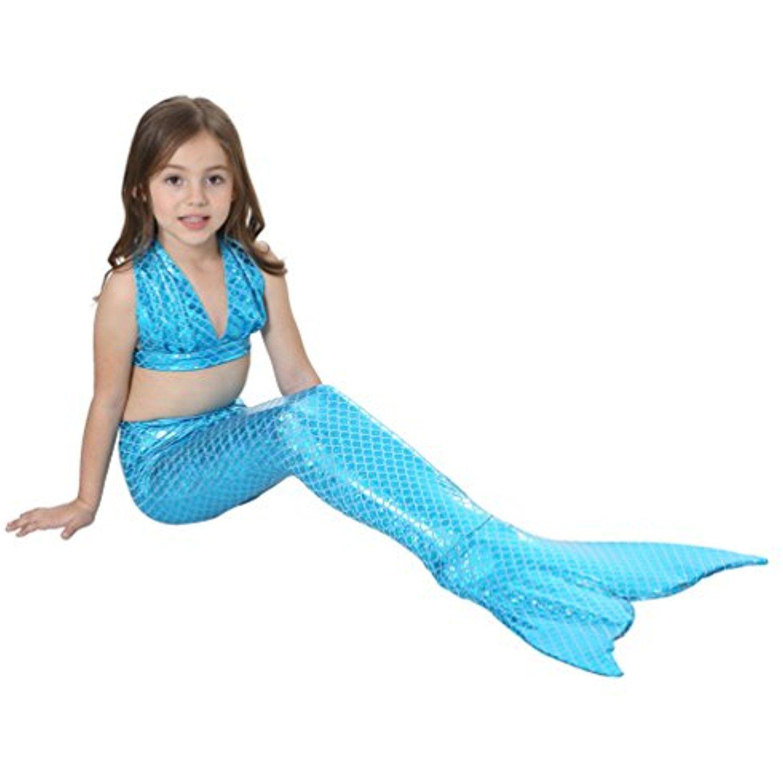7219b82bfb Queeni 3Pcs Kids Mermaid Tail Swimsuit Princess Bikini Set Swimwear for  Girls >>> For more information, visit image link. (This is an affiliate  link) # ...