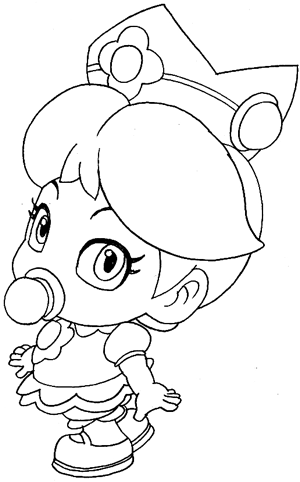 How To Draw Baby Princess Daisy From Wii Mario Kart Art And