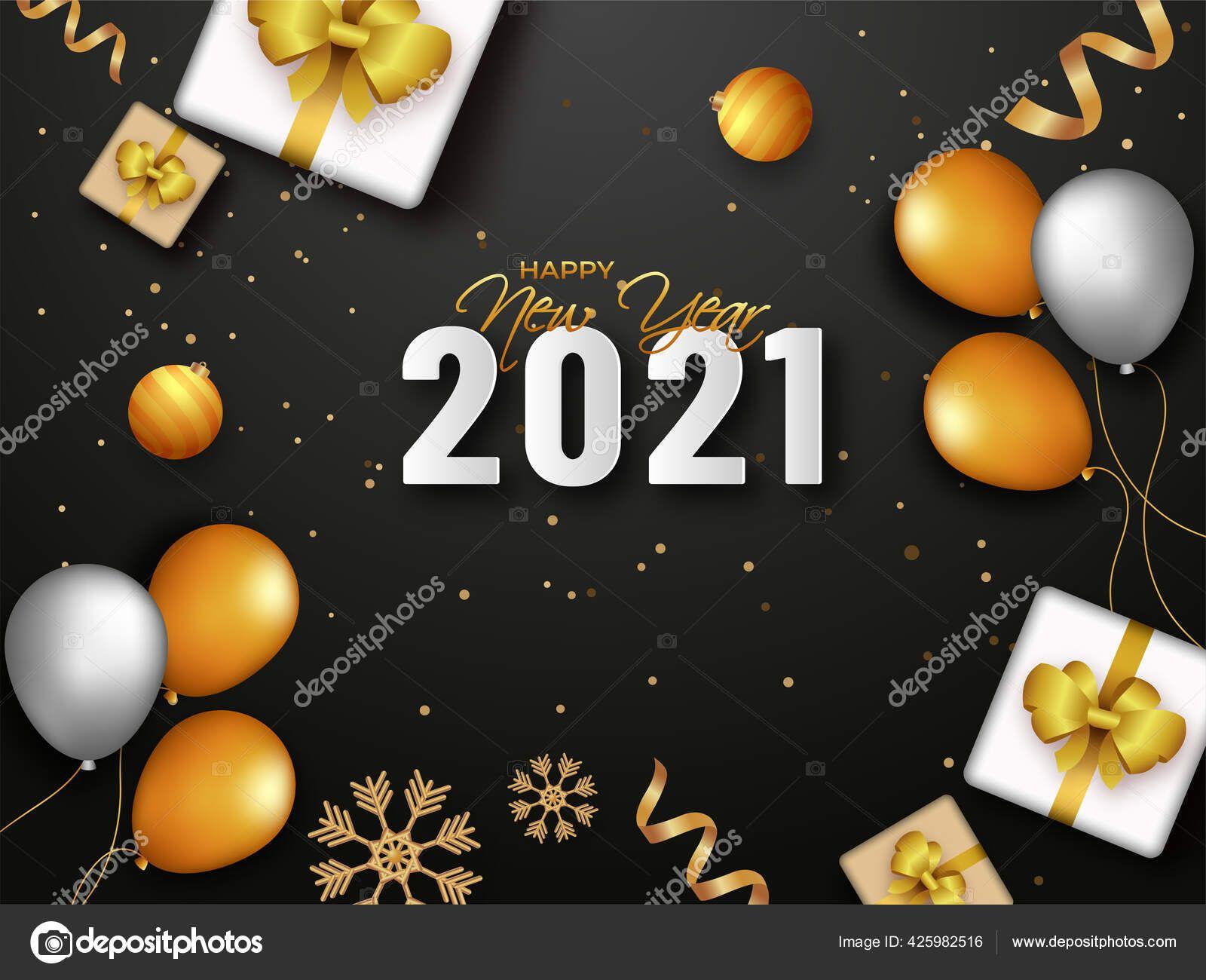 2021 Happy New Year Celebration Balloon Gift Balloons New Year Celebration 2021 new year balloons and gift
