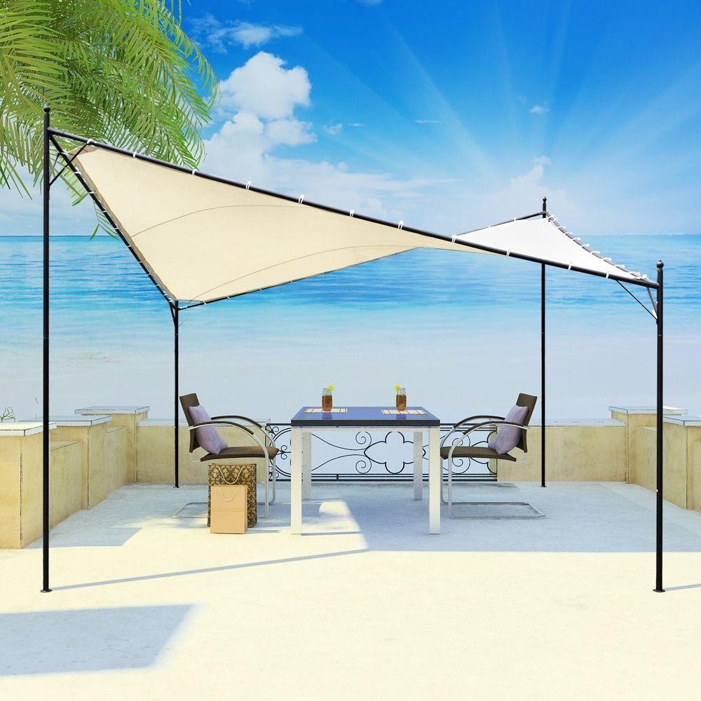 details zu 3x3 m pavillon garten pergola sonnenschutz terrassen, Gartengerate ideen