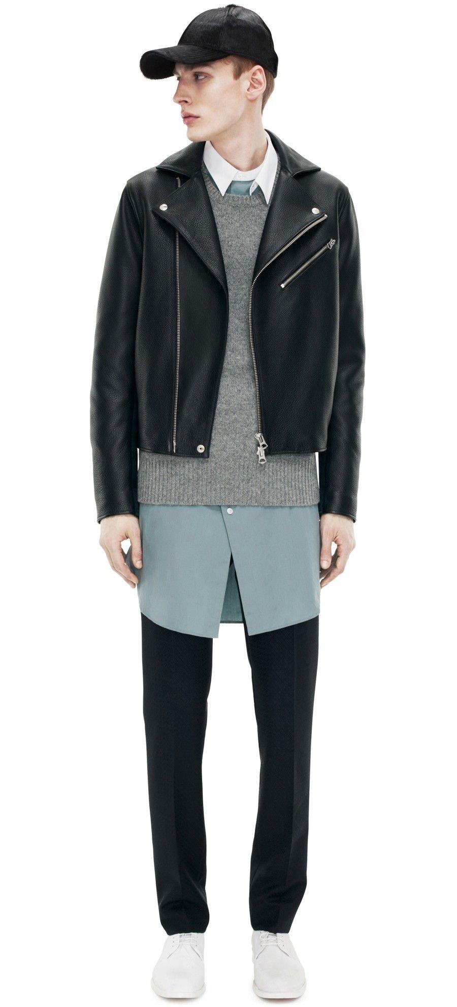 Acne Gibson Leather Black Lookbook men, Casual