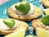 Aarti Sequeira's Summertime and the Cookin' is Easy (Aarti Party on FoodNetwork) - Fried Green Tomatillos with Burrata, Cumin and Basil Recipe