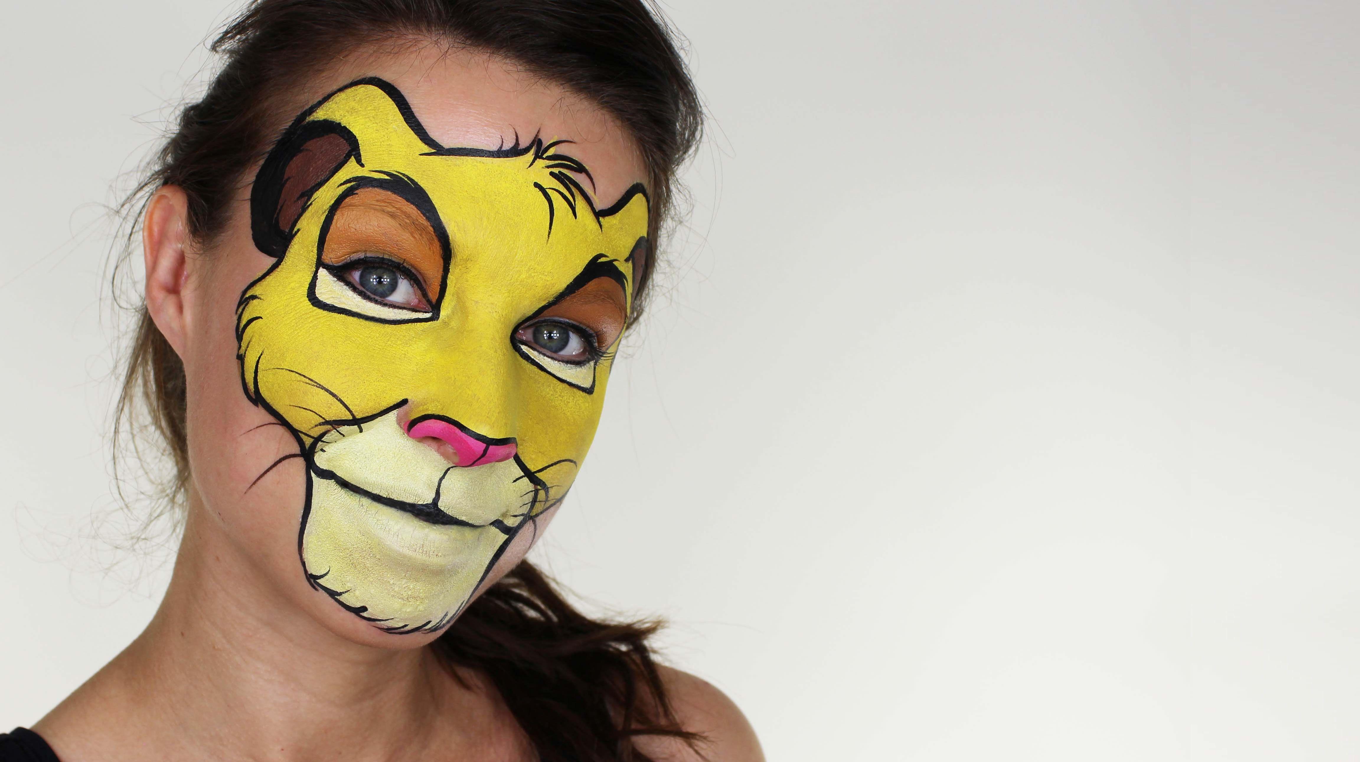 Simba Face Painting     Youtube Com  Watch V