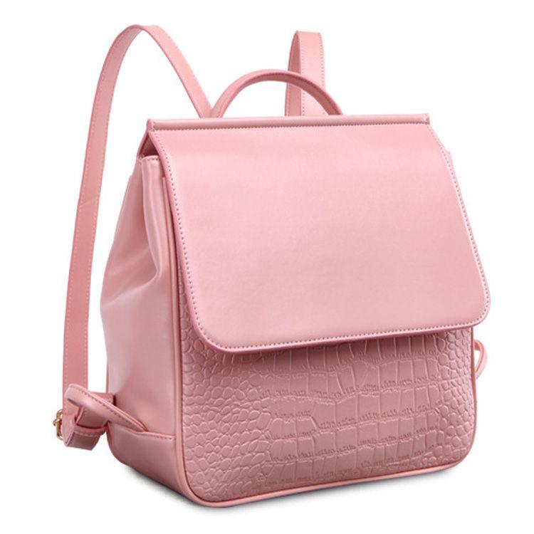 b18edffab5f48 Oferta de mochilas por mayor online para niñas mochila de cuero cocodrilo  linda  SD91031  - €47.94   bzbolsos.com