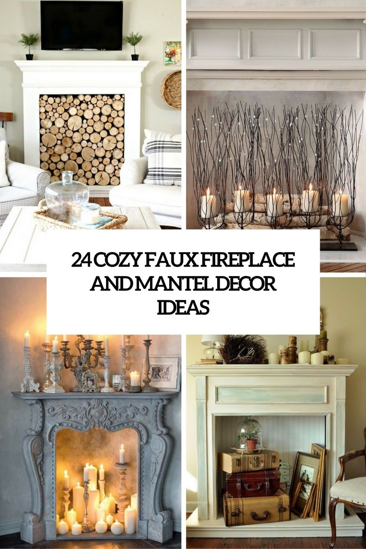 cozy faux mantel and fireplace decor ideas cove | Fireplaces ...