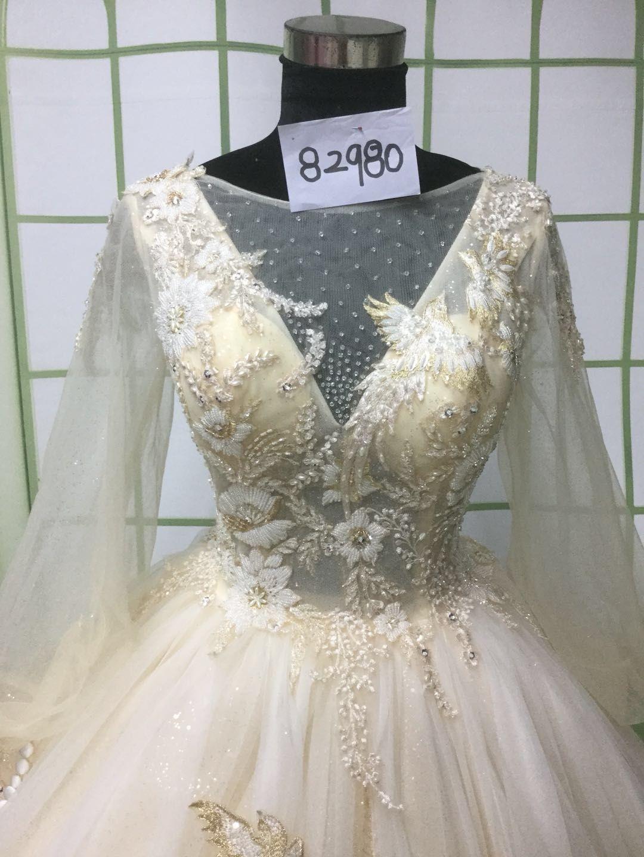 Ball-gown Customized Long Sleeve Bridal Dress USD  405+ Free Shipping   weddingdresses   dfee4cd89ea3