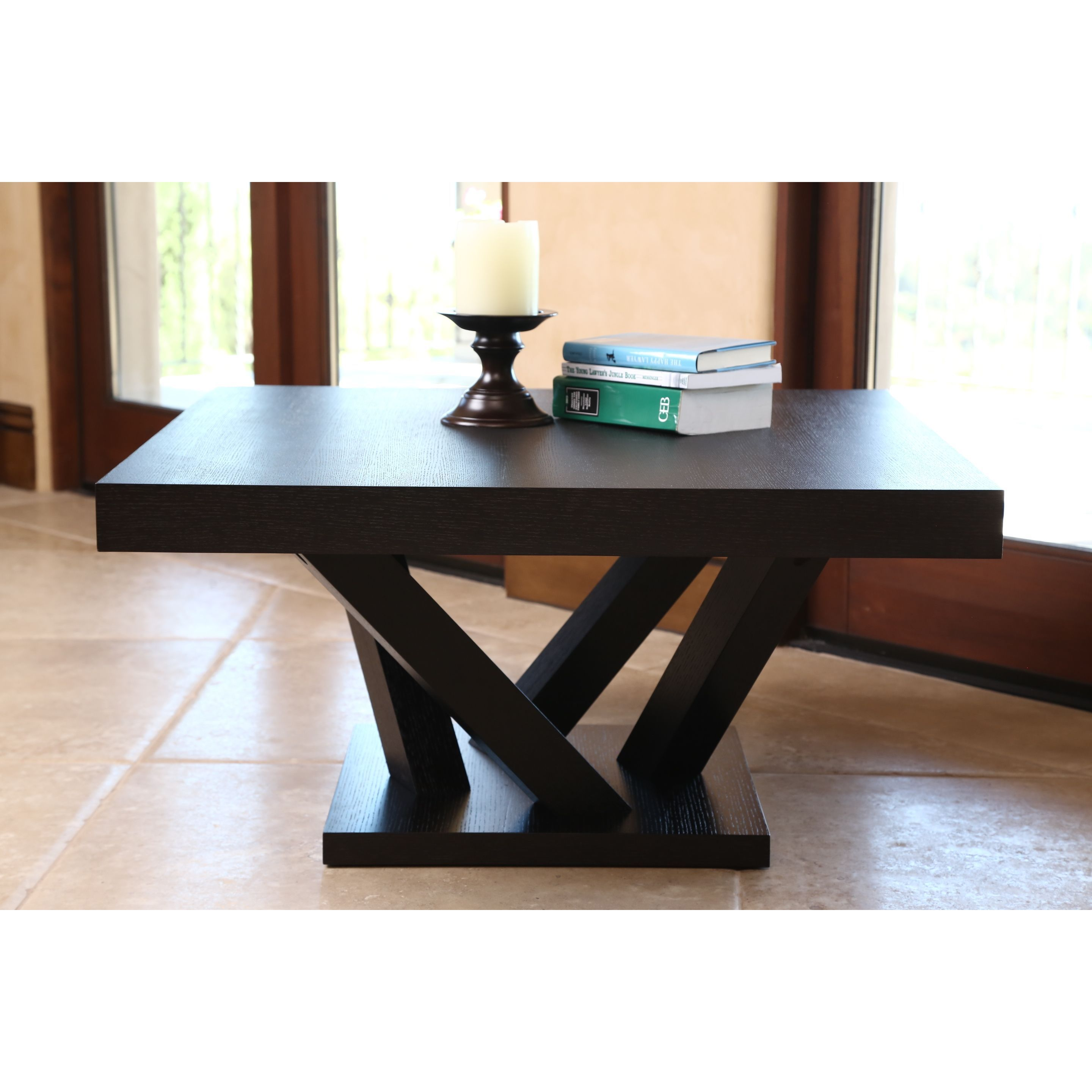Abbyson Cosmo Espresso Wood Square Coffee Table by Abbyson