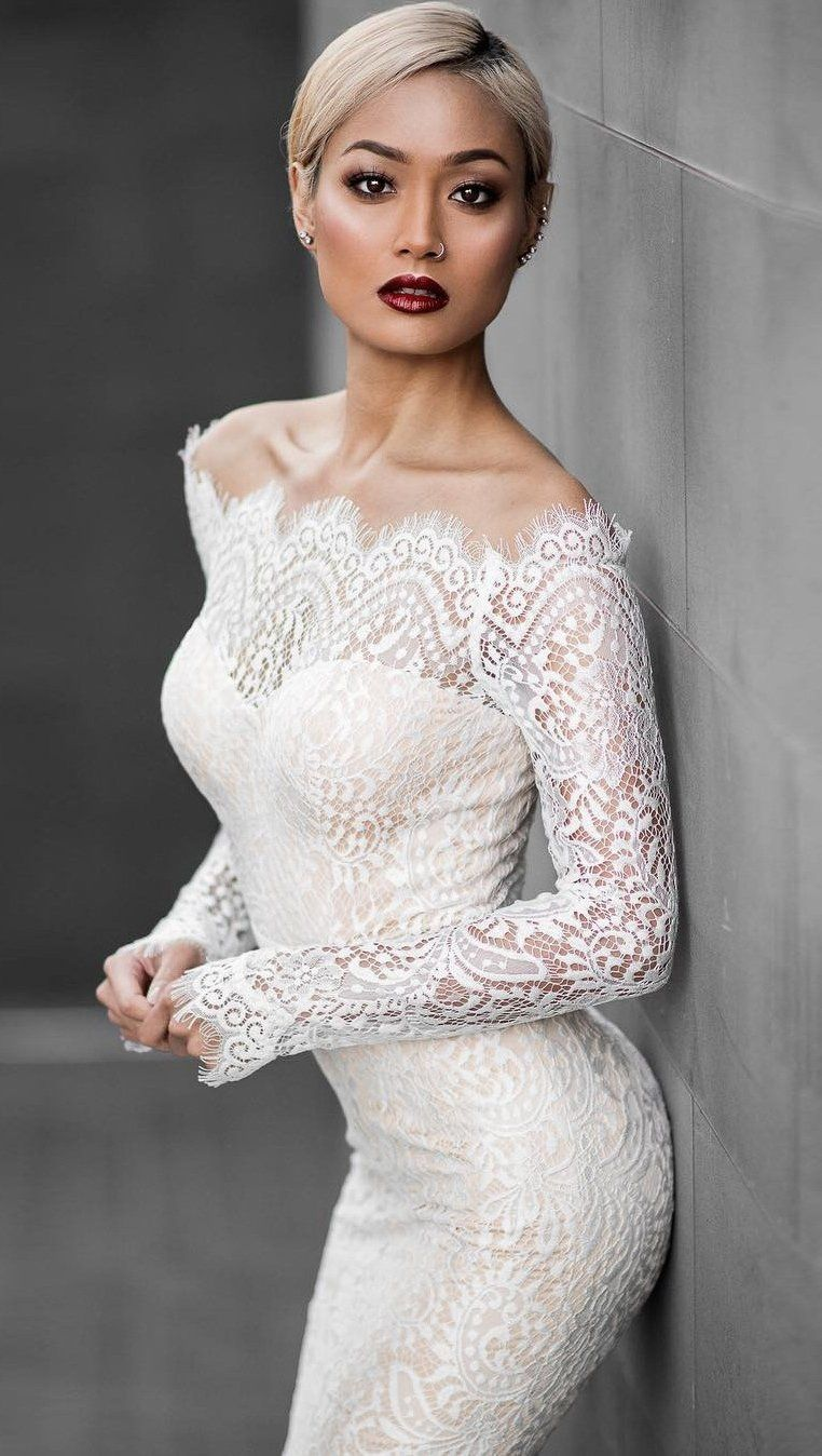 a2bca42ebfff Antoinette is a white lace off the shoulder bodycon dress with a gorgeous  mermaid cut and