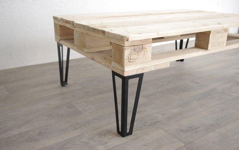 Pied type hairpin legs pour table basse en acier brut ou peinture