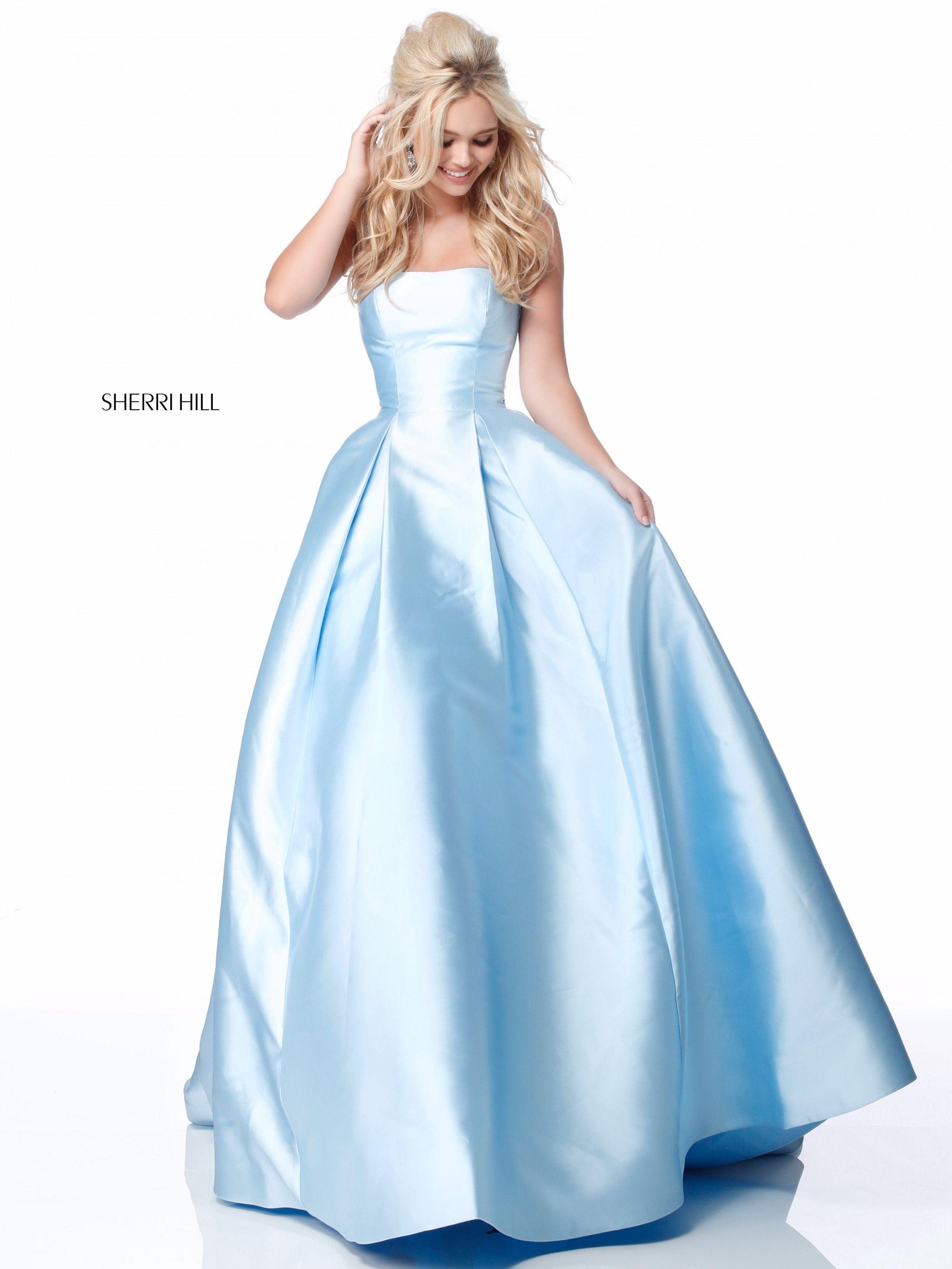 Sherri hill strapless prom dress in fashion pinterest