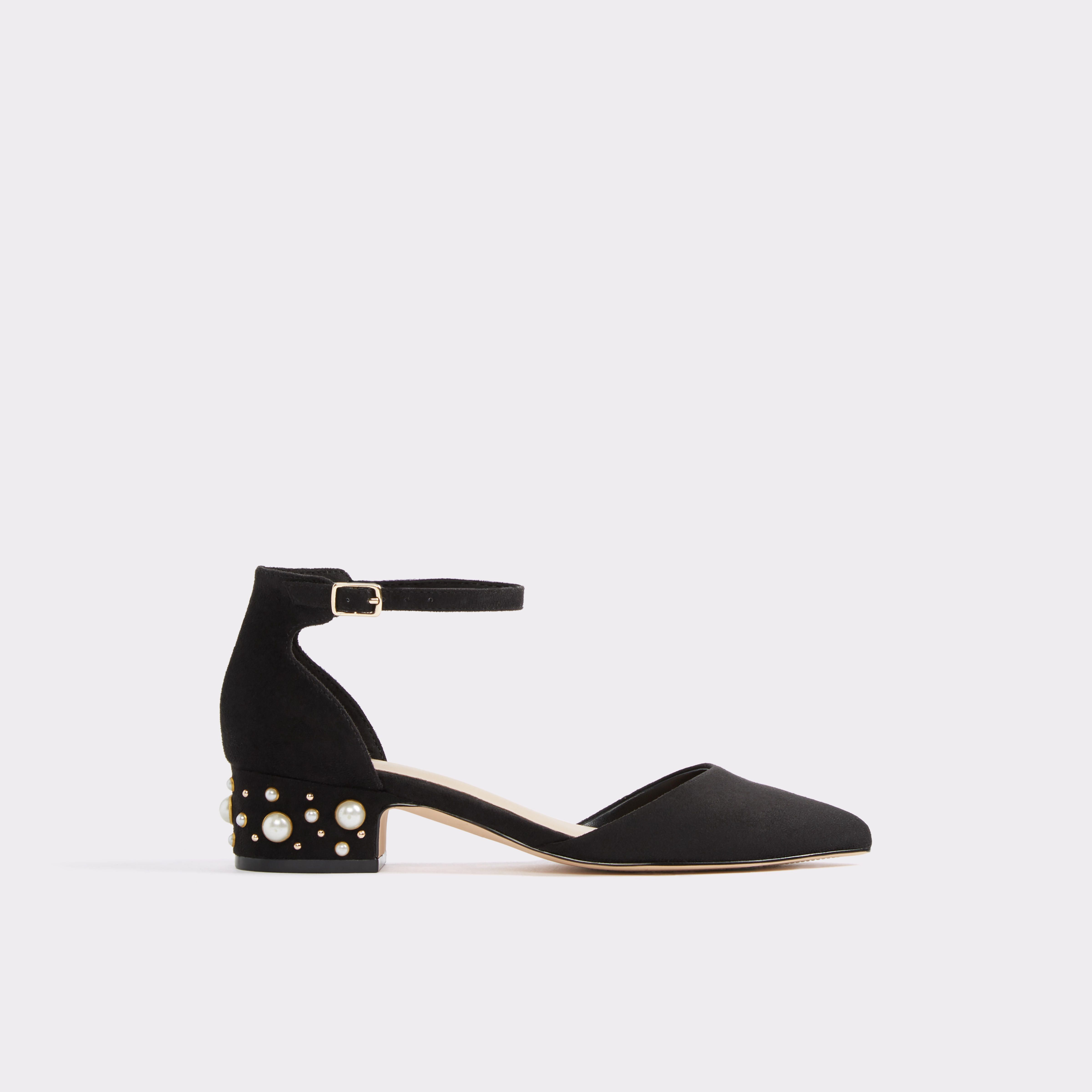 3ab892e0077f Wiliwiel Midnight Black Women s Block heels