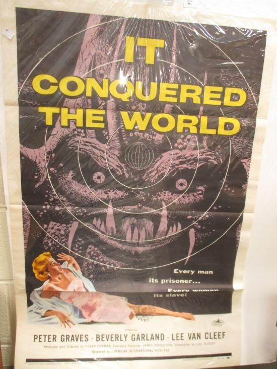 "Sale D090715 Lot 481  ""It Conquered the World"", a film poster by Albert Kallis  - Cheffins"