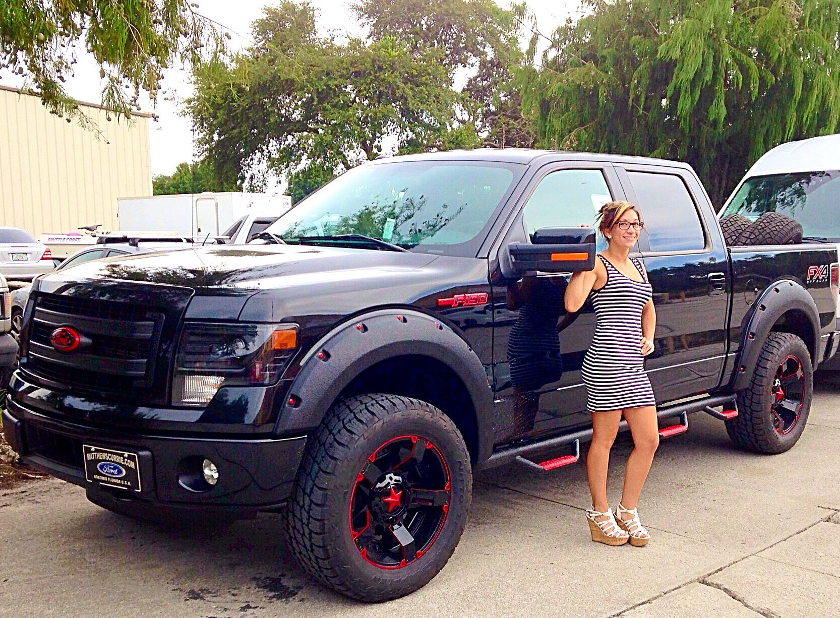 Used Ford F150 Rims For Sale >> Ford F150 custom painted Rockstar2 wheels and emblems. # ...