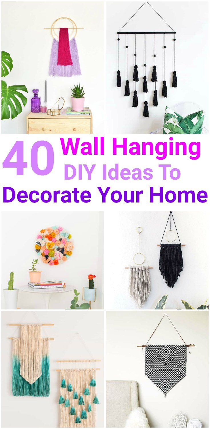 Easy and Simple DIY Wall Hanging Ideas | Diy wall, Wall hangings and ...
