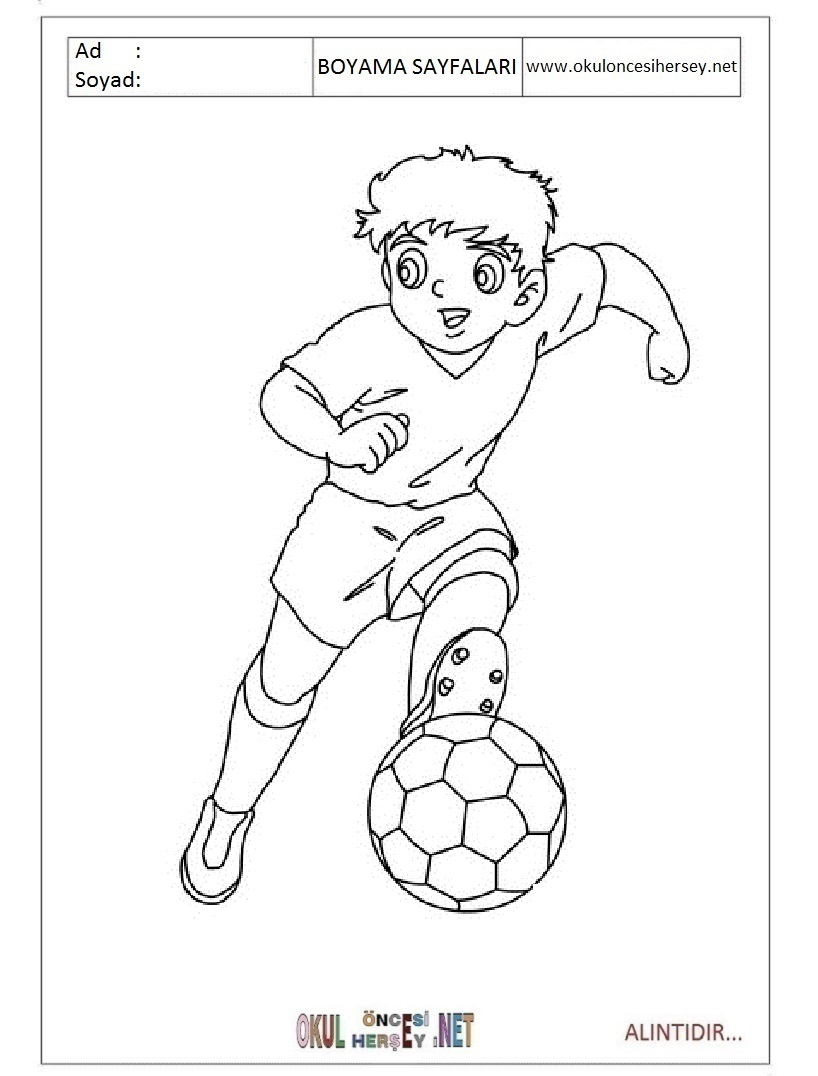 Futbolcu Boyama Google Da Ara Futbolcular