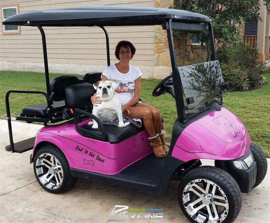 Panther Pink Ezgo Rxv Golf Cart Golf Cart Zone Of Austin Golf Carts Ezgo Golf Cart Golf