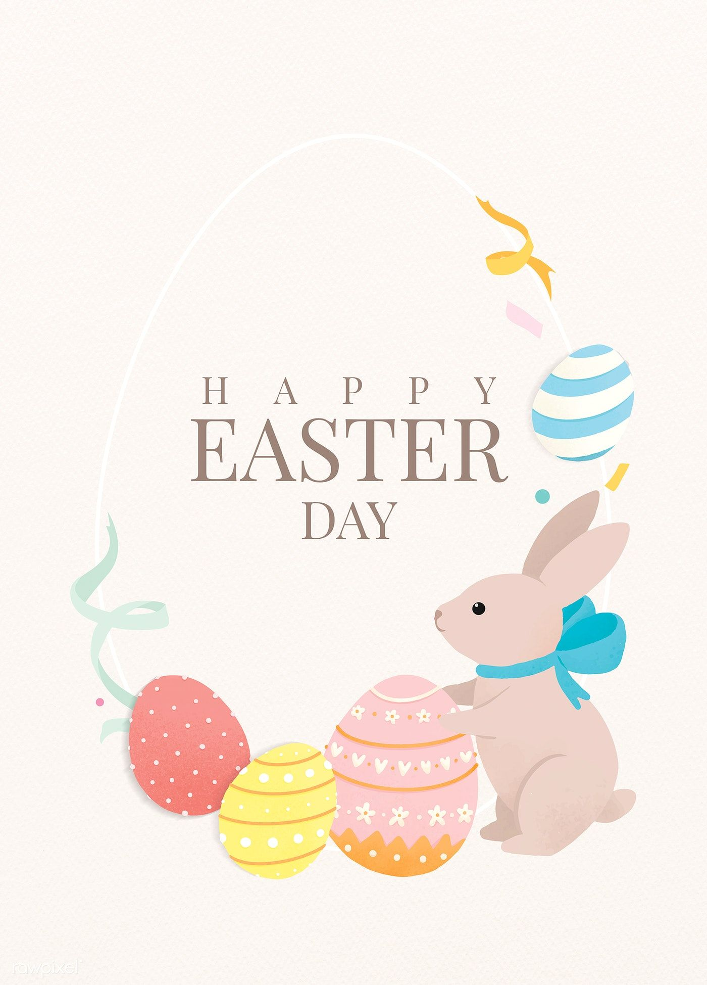 Download Premium Vector Of Colorful Happy Easter Day Template Design Happy Easter Day Easter Illustration Happy Easter
