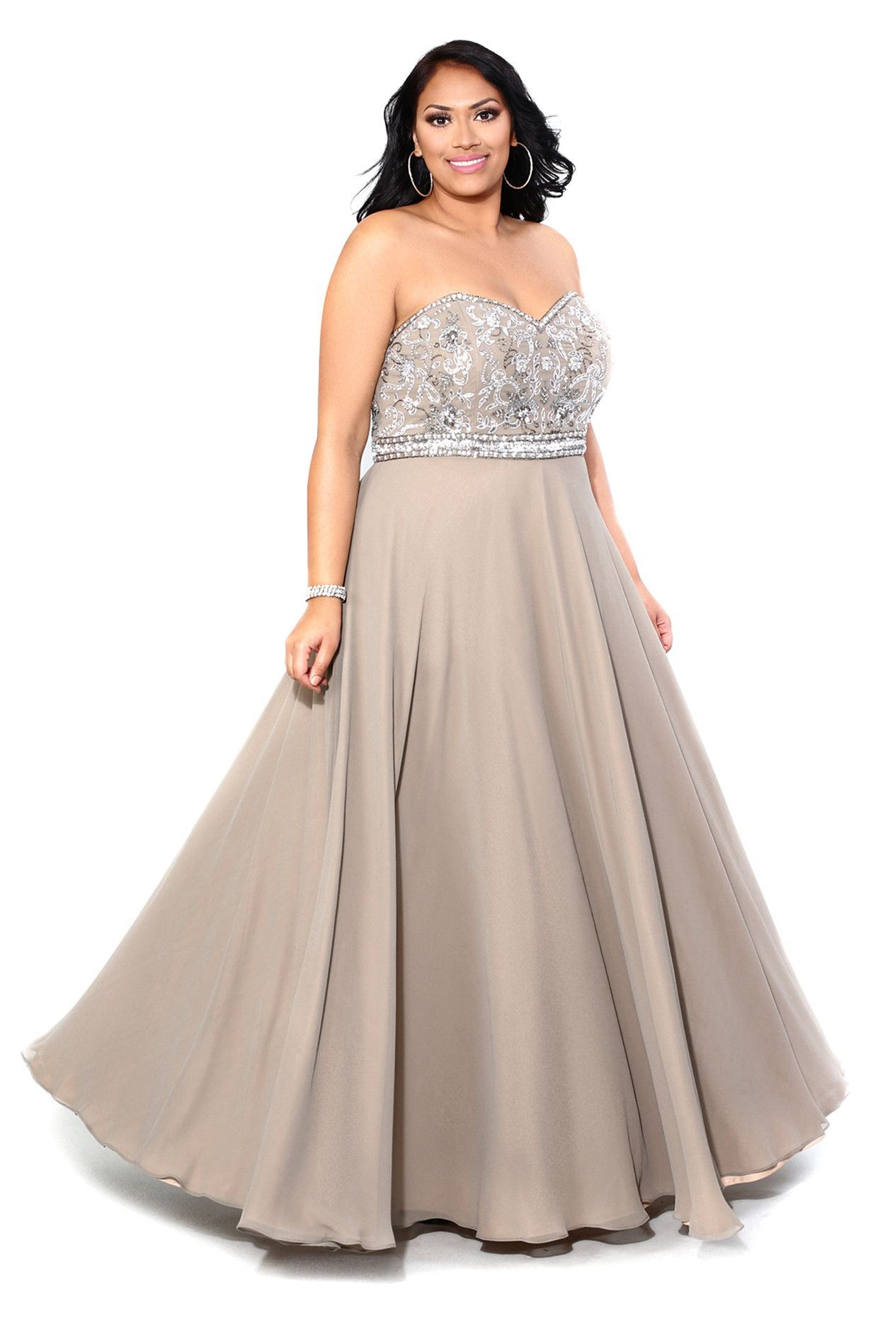 Embellished strapless gown free shipping and products