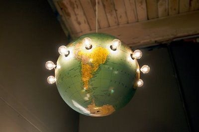 No playroom is complete without a globe chandelier.