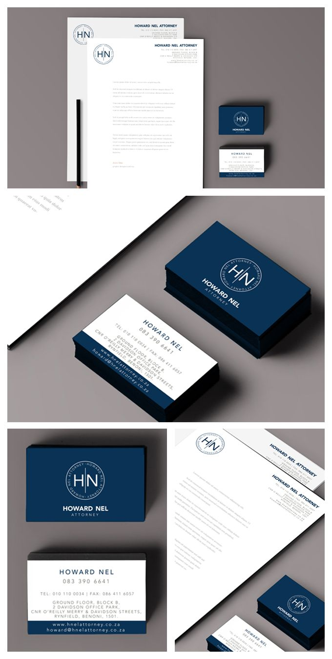 Beautiful corporate identity design for howard nel attorney logo beautiful corporate identity design for howard nel attorney logo business cards letterheads reheart Image collections