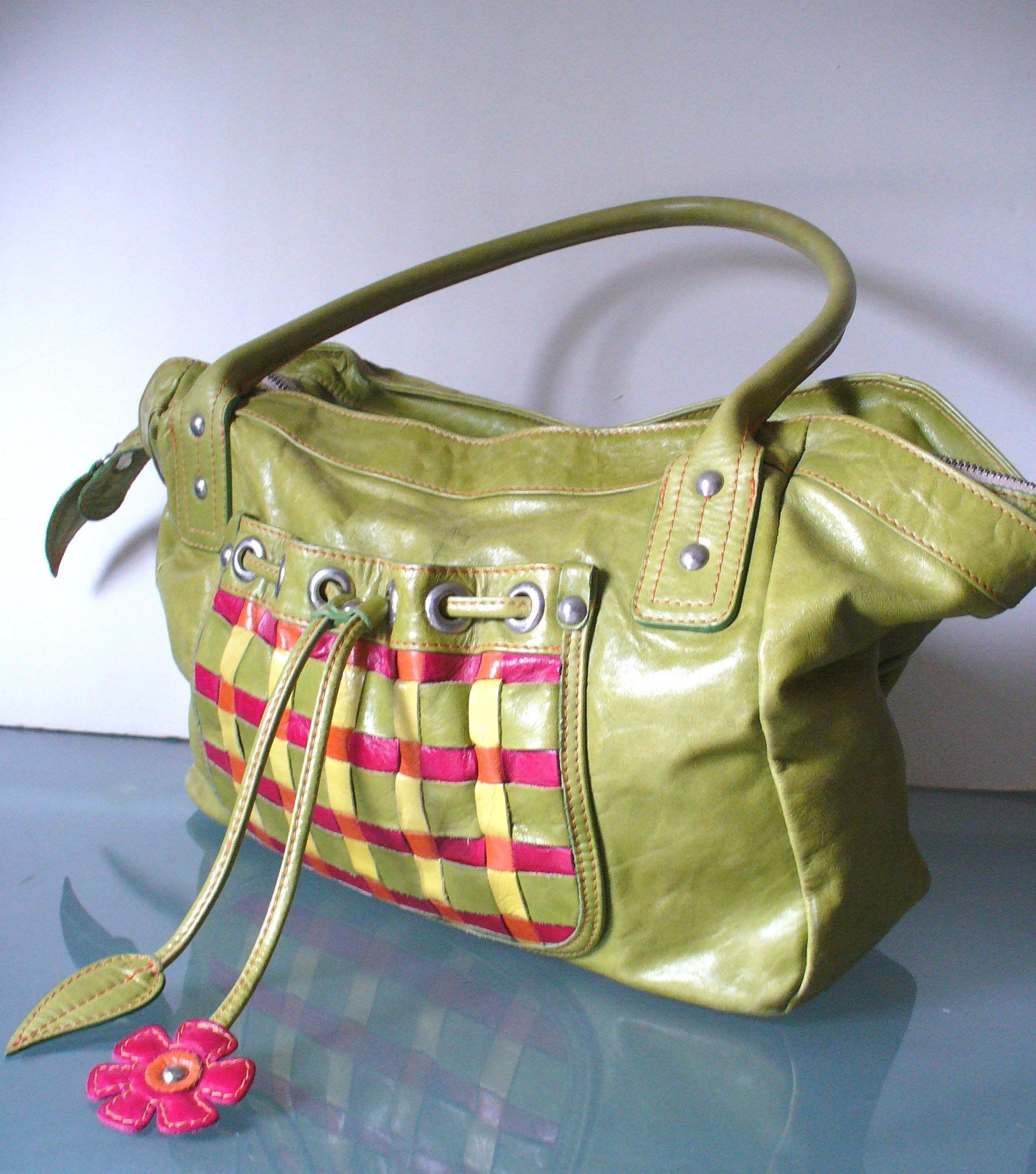 Sofia C Made In Italy Olive Green Bag By Eurotraaly On Etsy Vintage