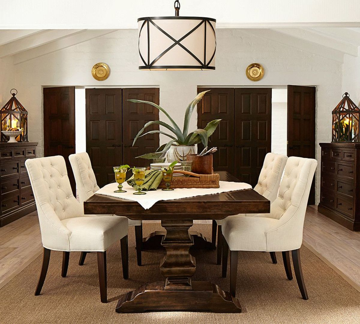 pottery barn living room furniture sets country themed ideas banks extending dining table my design life