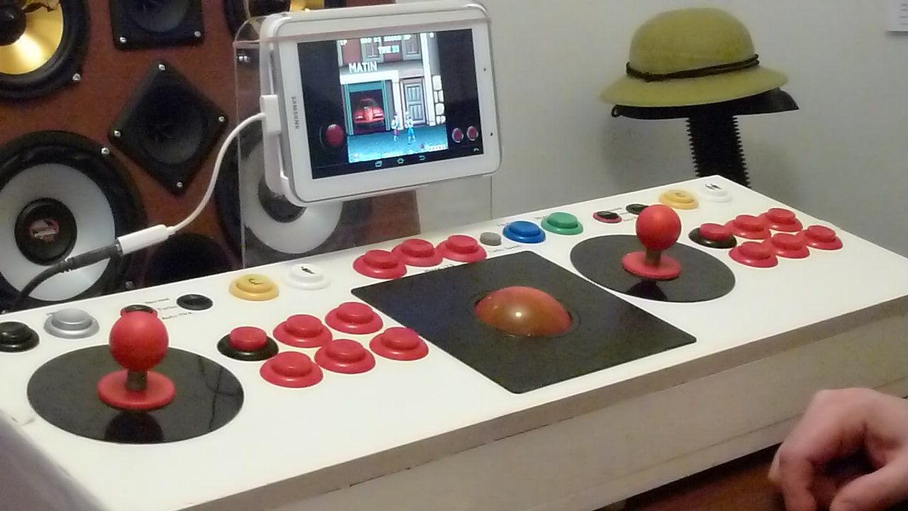 Usb Arcade Joystick Including Trackball Demo With Mame