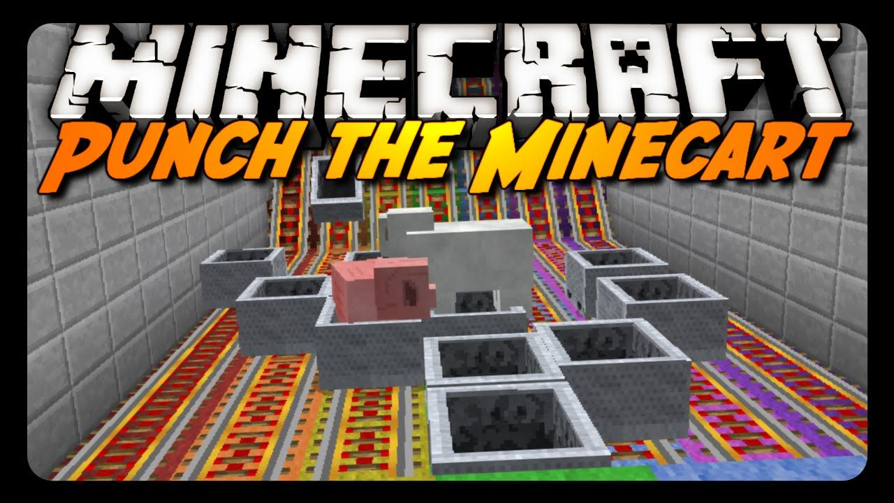 Minecraft: PUNCH THE MINECART! (Old School Mini-Game)