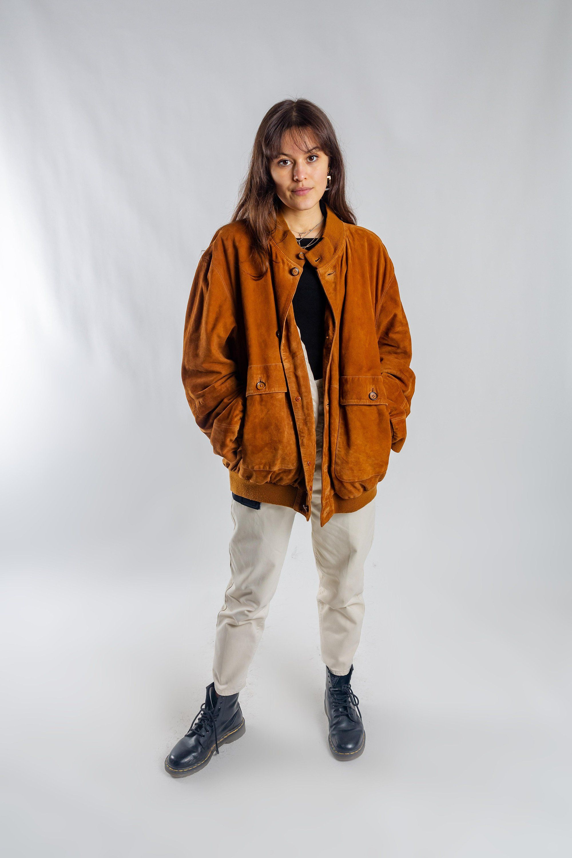 Suede Cognac Bomber Jacket Vintage Oversized Suede Blouson Jacket 80s Women S Leather Jacket Men S Button Up Bomber Jacket Size Xxxl Bomber Jacket Vintage Leather Jackets Women Bomber Jacket [ 3000 x 2000 Pixel ]