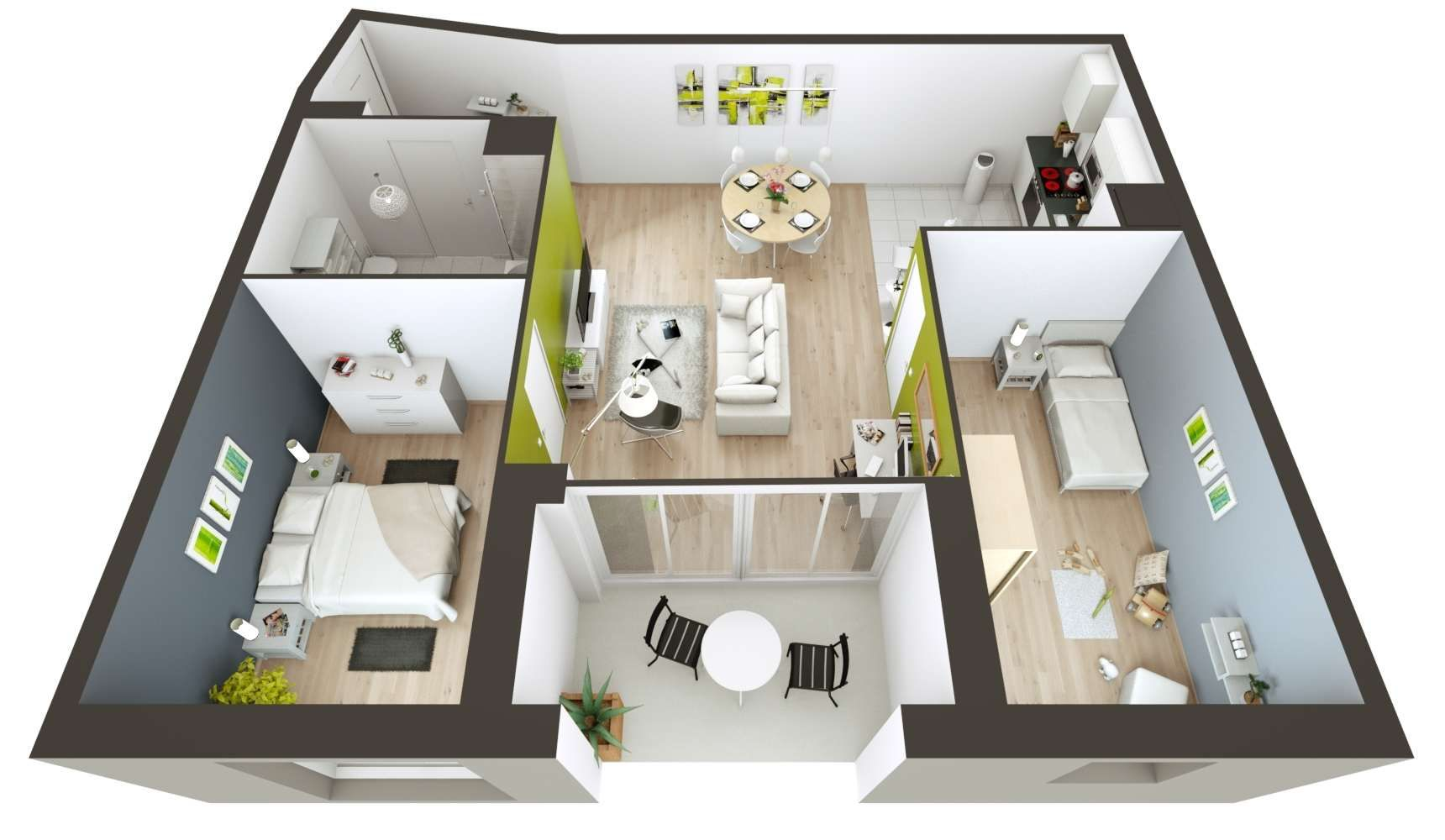 33 Awesome Plan Interieur Maison Moderne 3d Images Places