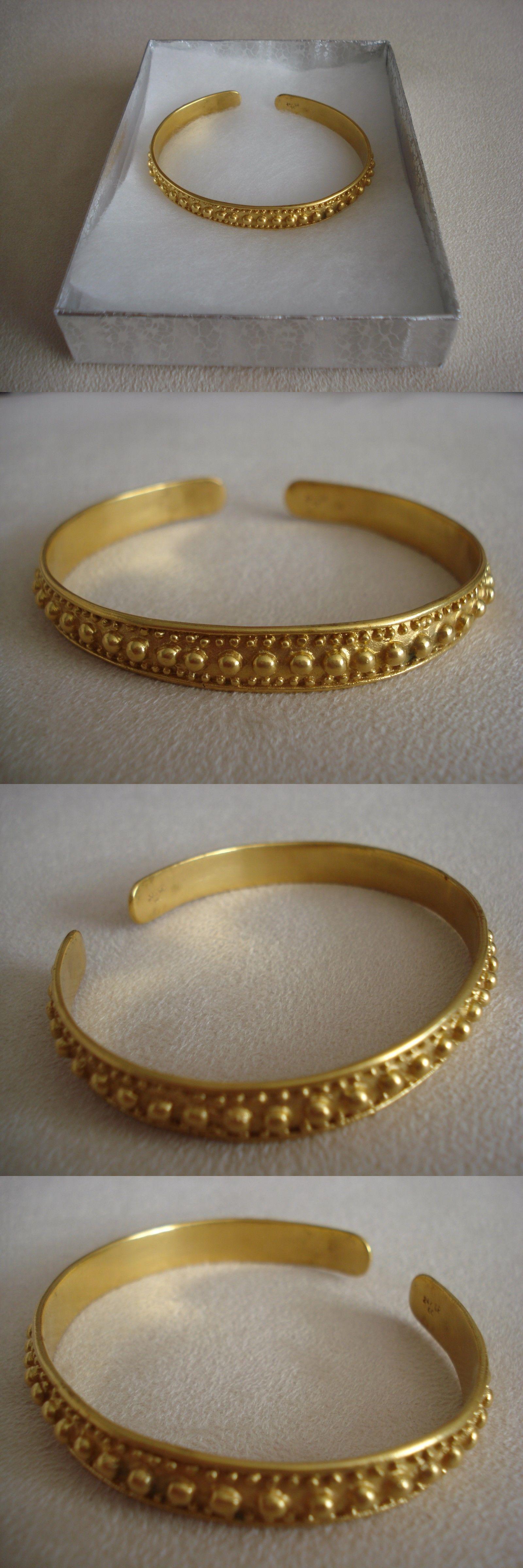 Bracelets 98504 Precolumbian Replica Bracelet 24K Gold Plated