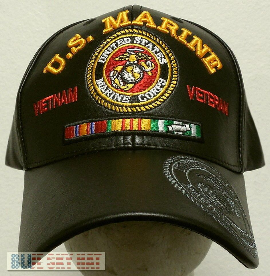 MILITARY CAP UNITED STATES  MARINES  WITH ANCHOR SHADOW BLACK HAT