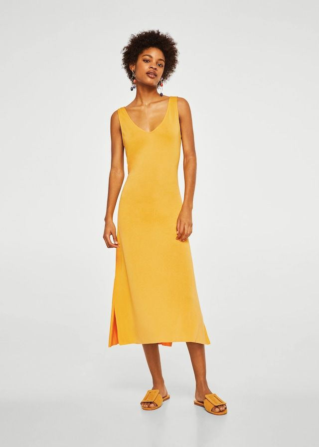 Bow gown - Women | Mango USA | Lange kleider, Kleid mit ...