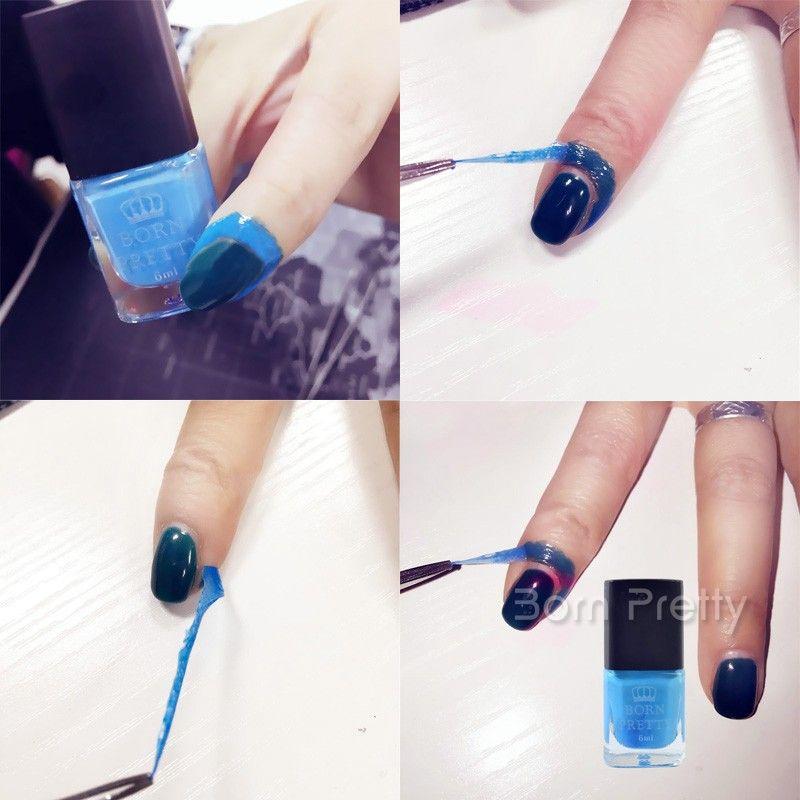$1.99 # 27296 (6ml) Blue Born Pretty Liquid Tape & Peel Off Base ...