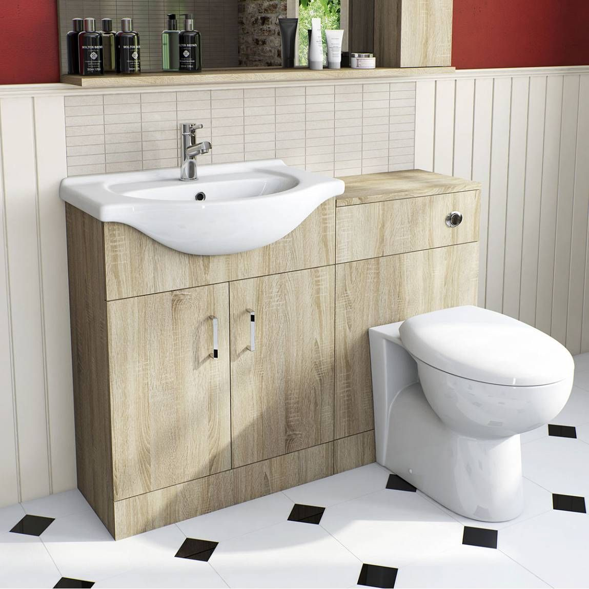 Sienna Oak Milo Combination Vanity Unit Small | Projects to Try ...