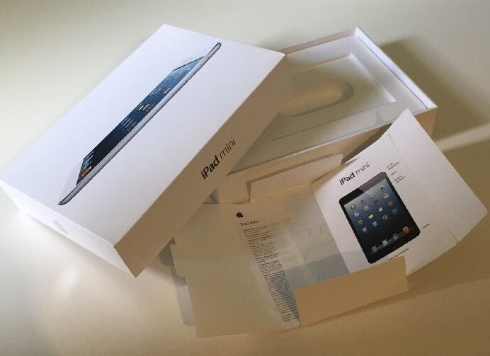 Ipad Mini Box White With Instructions And Apple Stickers Just The