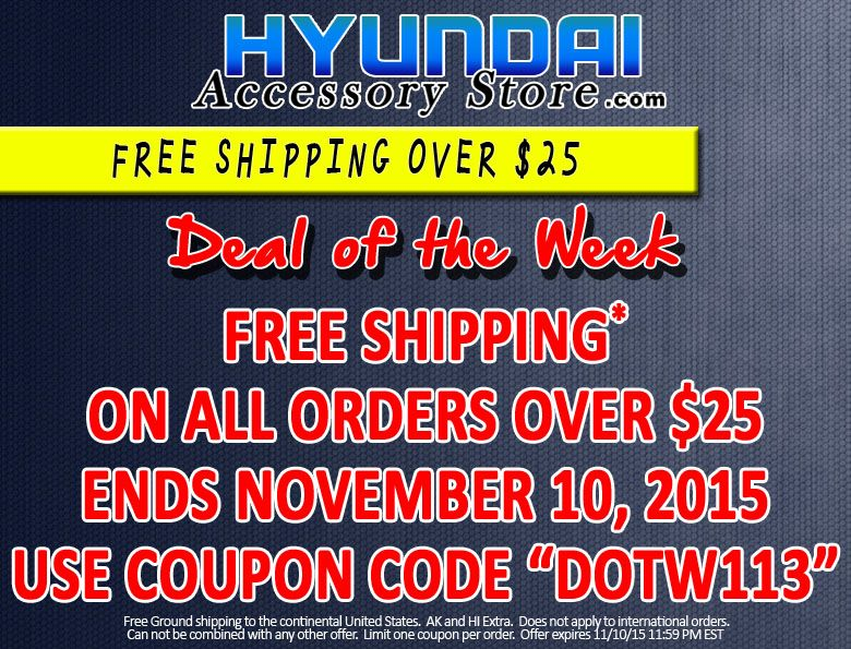 Hyundaiaccessorystore S Deal Of The Week 11 03 15 11 10 15 10 Things The Unit 3 1