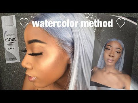 How I Got My Hair Platinum Watercolor Method Imaniamour