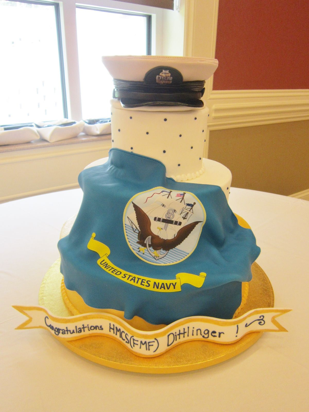 US Navy Retirement cake by USN