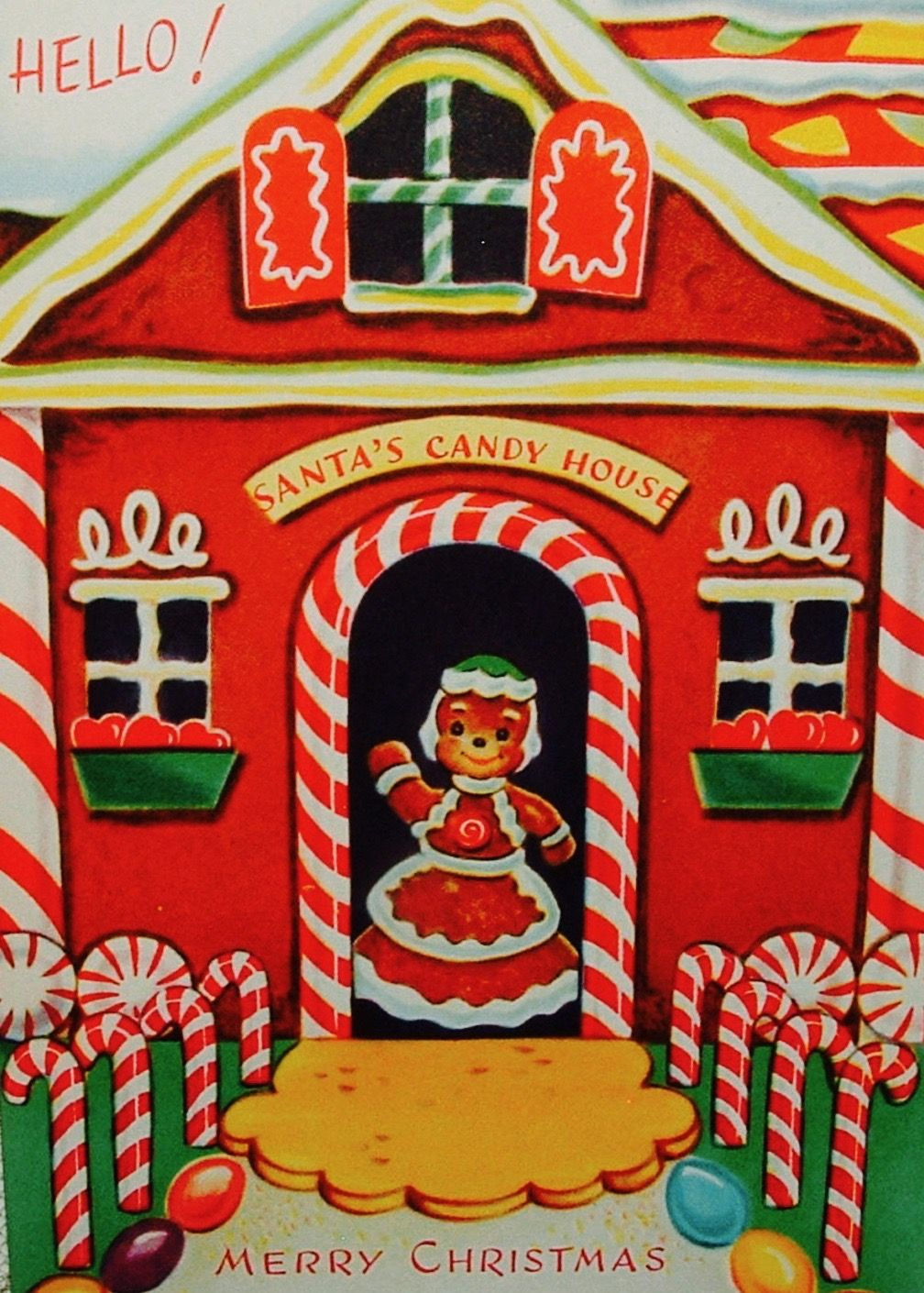 Santa\'s Candy House. #merrychristmas Candy Cane Crazy #candycanes ...