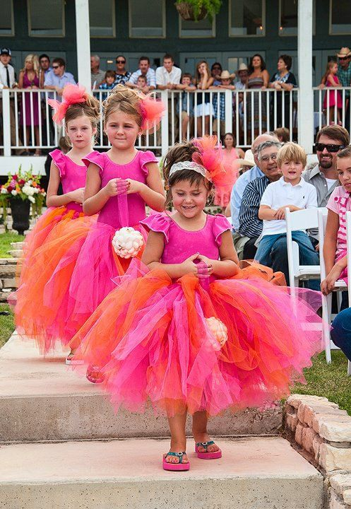 Adorable flower girls in bright colored tutus.. | Tutu princess ...