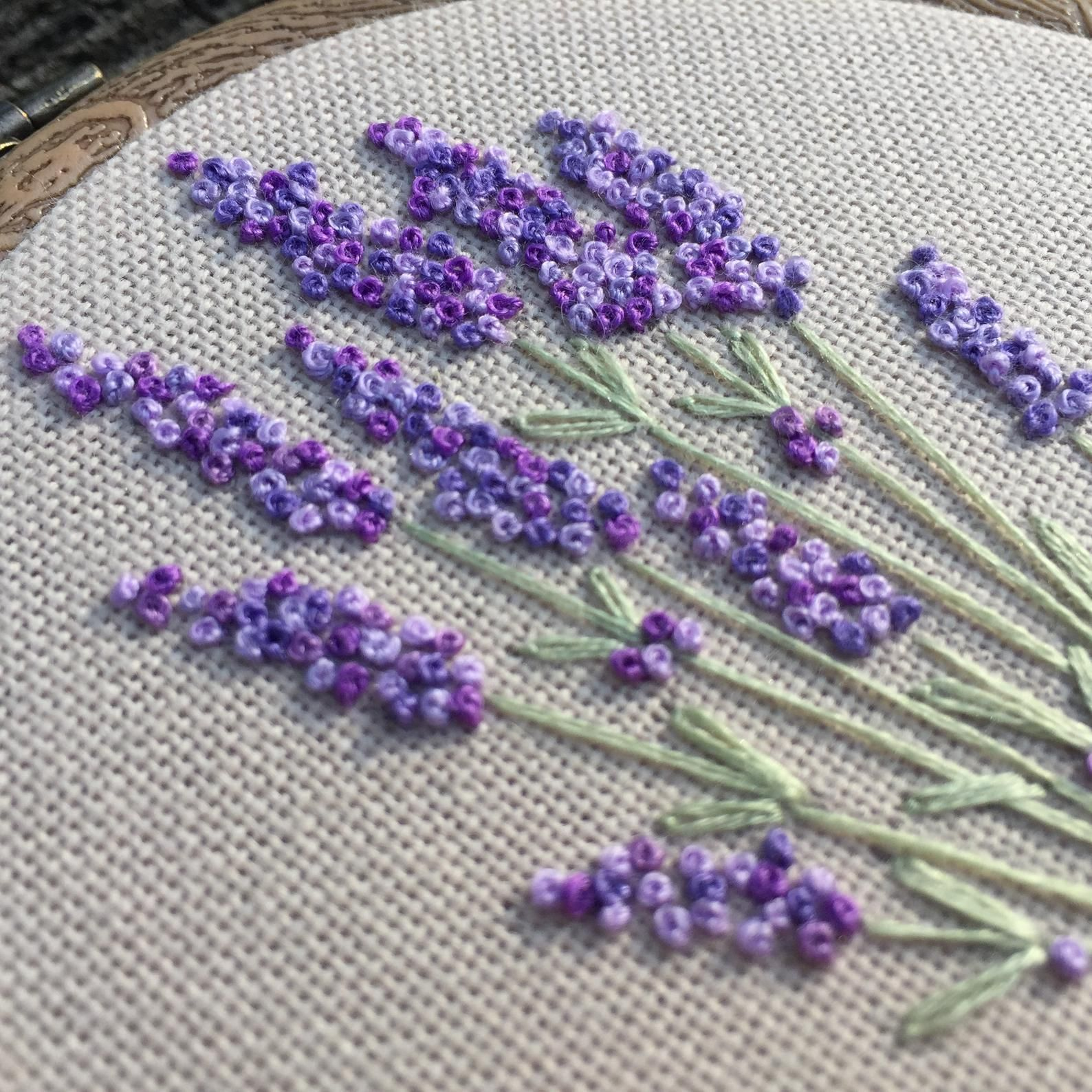 Embroidery Hoop Art Bouquet Of Lavender Hand Embroidered Blooming Flowers Gift Fra In 2020 Embroidery Flowers Pattern Flower Embroidery Designs Hand Embroidery Flowers