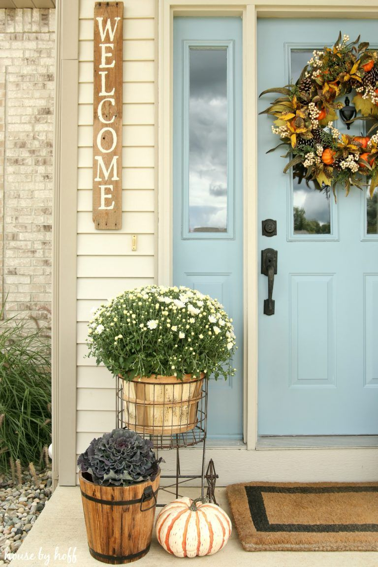 Fall Stoop Decor - House by Hoff