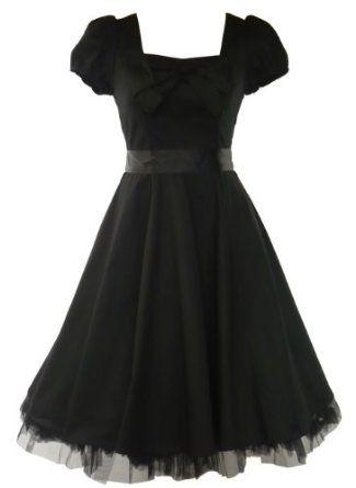 want..... Amazon.com: 50\'s Vintage Tea Prom Dress Plain Black ...