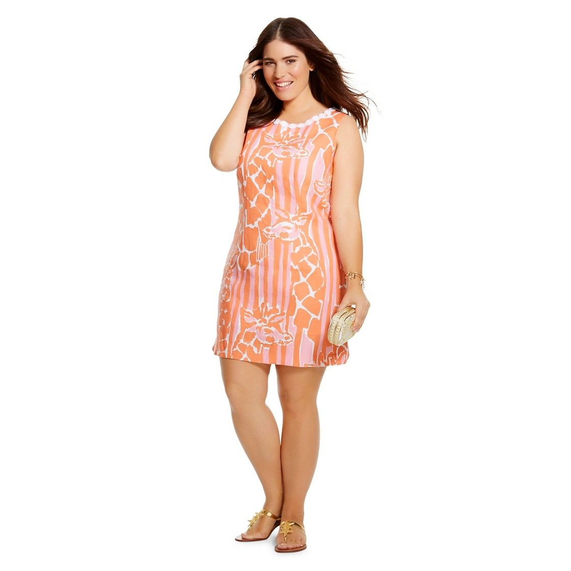 Lilly Pulitzer For Target Womens Plus Size Linen Shift Dress