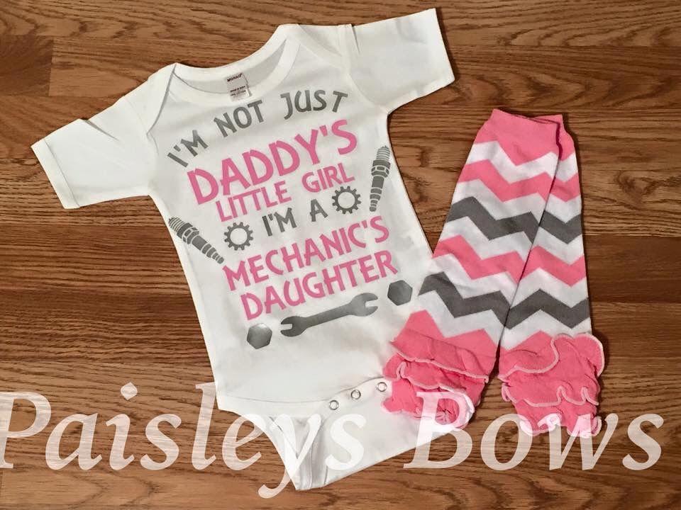 Mechanic Daddys Little Princess Mechanics Daughter Baby Mechanic