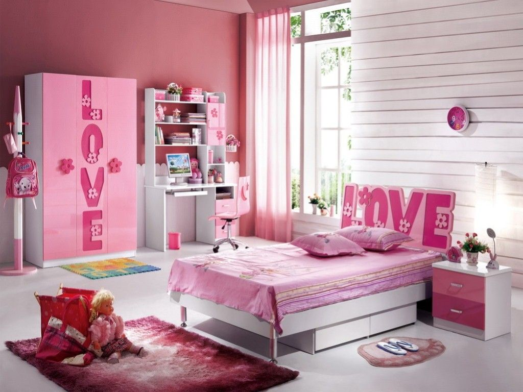 Kids Room  Kids Bedroom Design Ideas With Lovely Pink Girls Bed Also Cute Furniture  SetKids Room  Kids Bedroom Design Ideas With Lovely Pink Girls Bed  . Pink Bedroom Set. Home Design Ideas