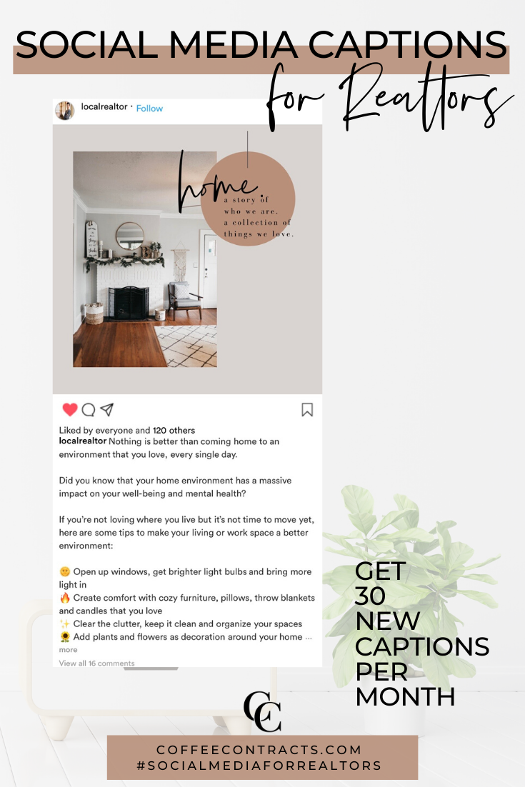 Social Media Captions For Our Real Estate Agents To Simply Copy Paste Real Estate Client Wholesale Real Estate Real Estate Agent Branding